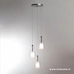 Verstelbare ronde hanglamp helder glas