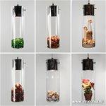 *Moderne glazen wandlamp cilinder