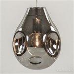 *Luxe glazen eettafel hanglamp smokey