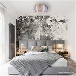 *Grote plafonnière zilver met chroom 50