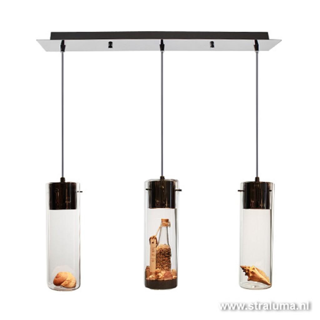 Aanbieding moderne hanglamp glas 3-l