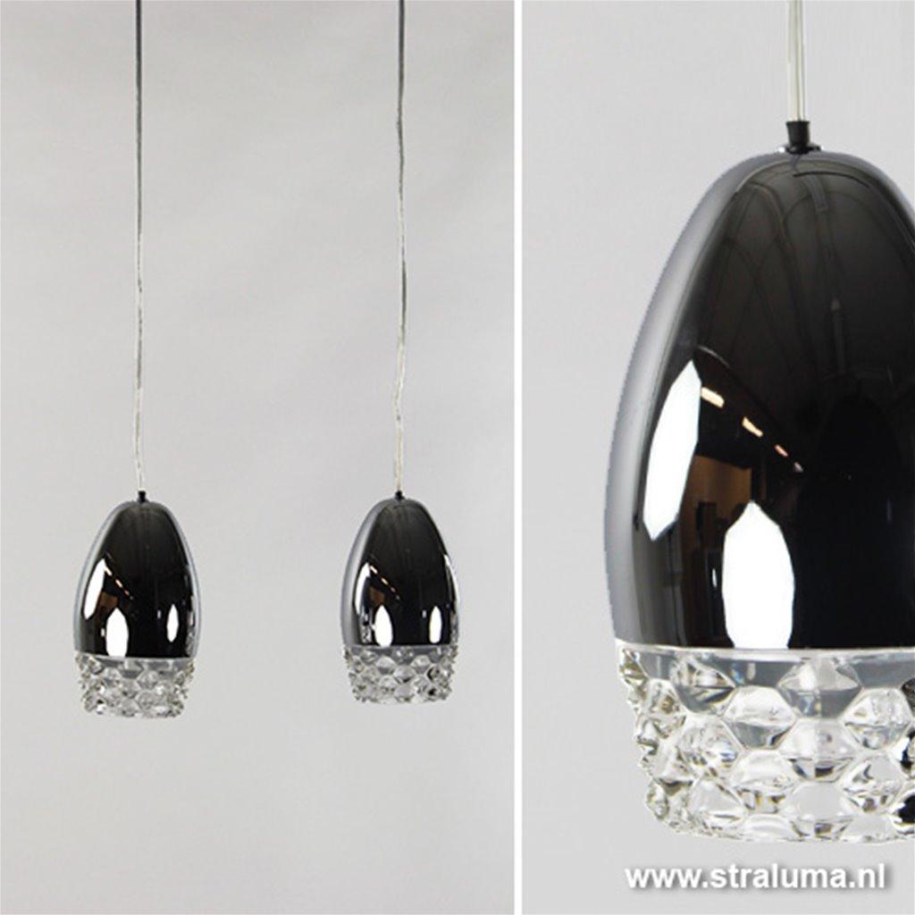 *Aanbieding hanglamp eettafel chroom ei