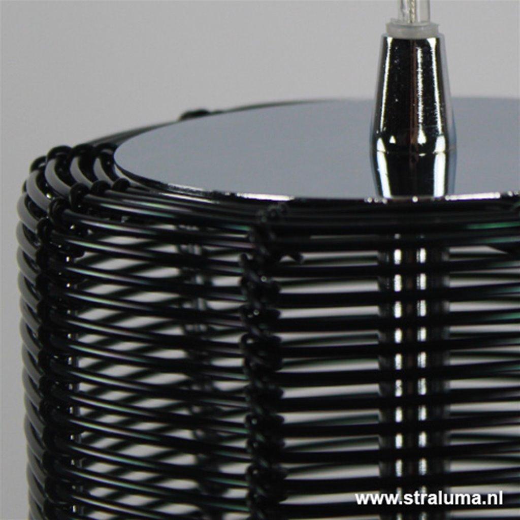 *Industriele hanglamp draad Zwart