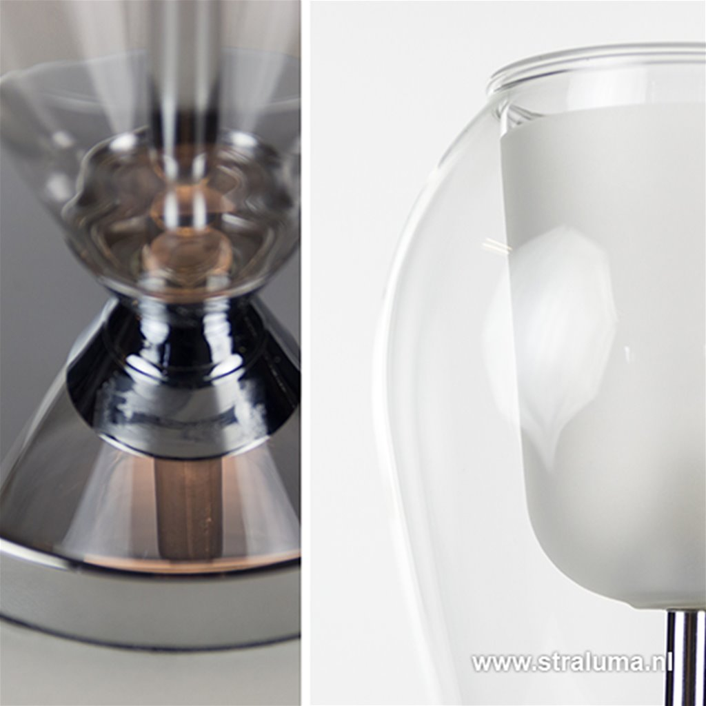 Tulip tafellamp helder glas