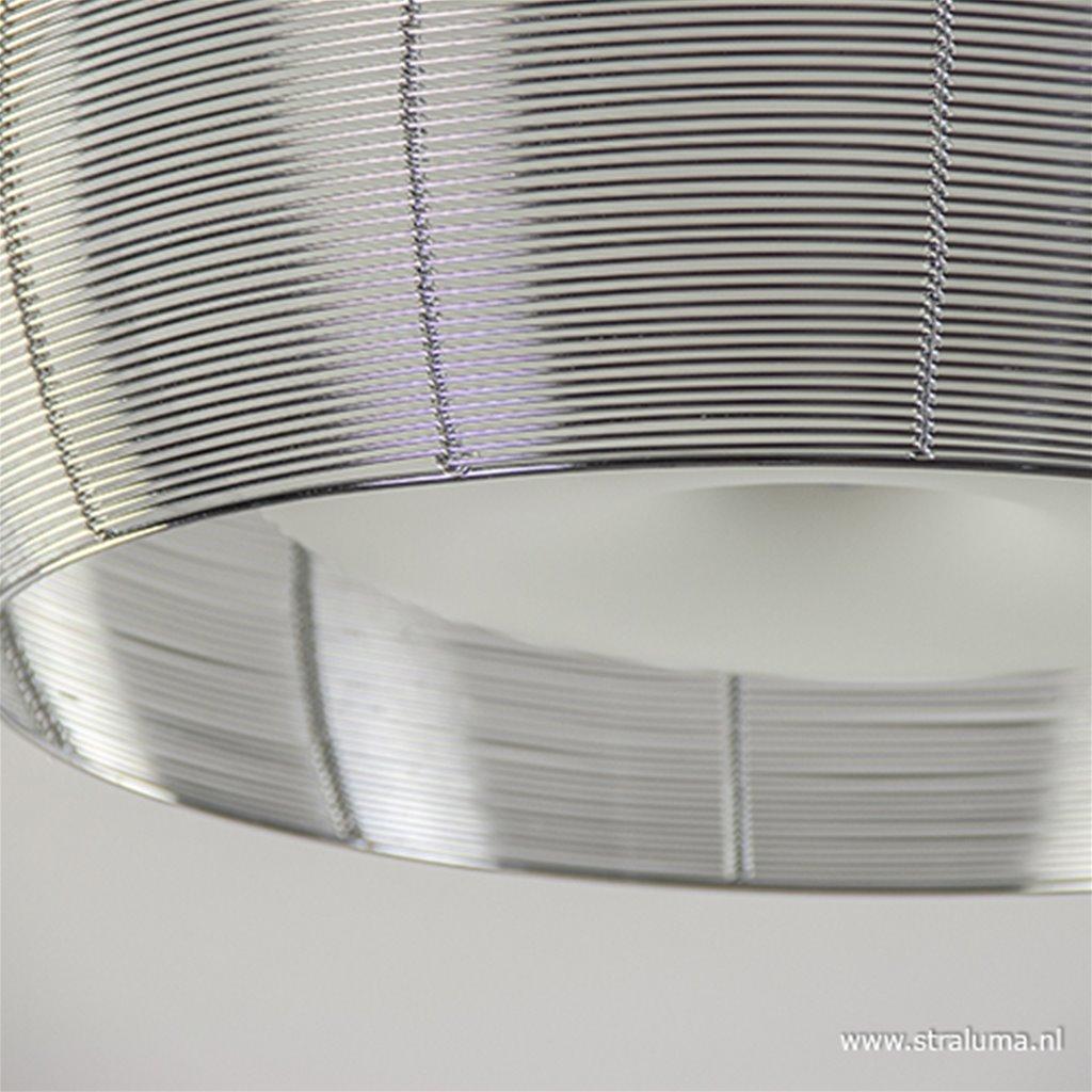 Grote plafonnière zilver met chroom 50