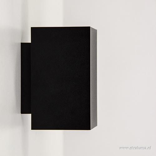 Wandlamp zwart rechthoek up+down gu10