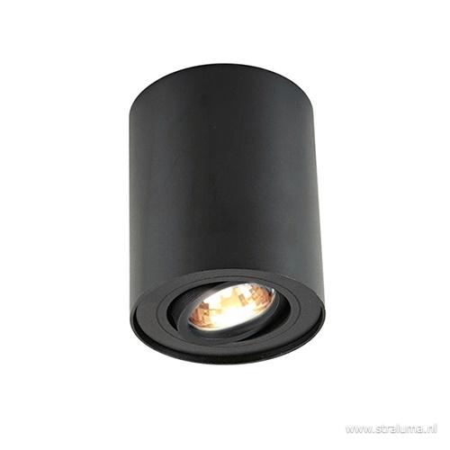 *Plafondspot cilinder zwart verstelbaar