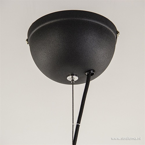 Chique hanglamp zwart met goud