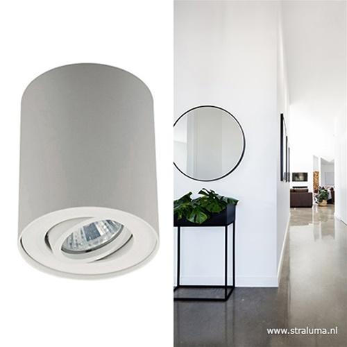 *Plafondspot cilinder wit verstelbaar
