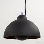 *Chique hanglamp 3-lichts zwart met goud