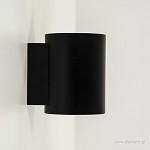 *Wandlamp cilinder zwart/goud
