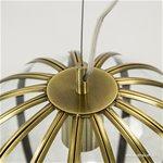 *Ronde hanglamp brons met glas