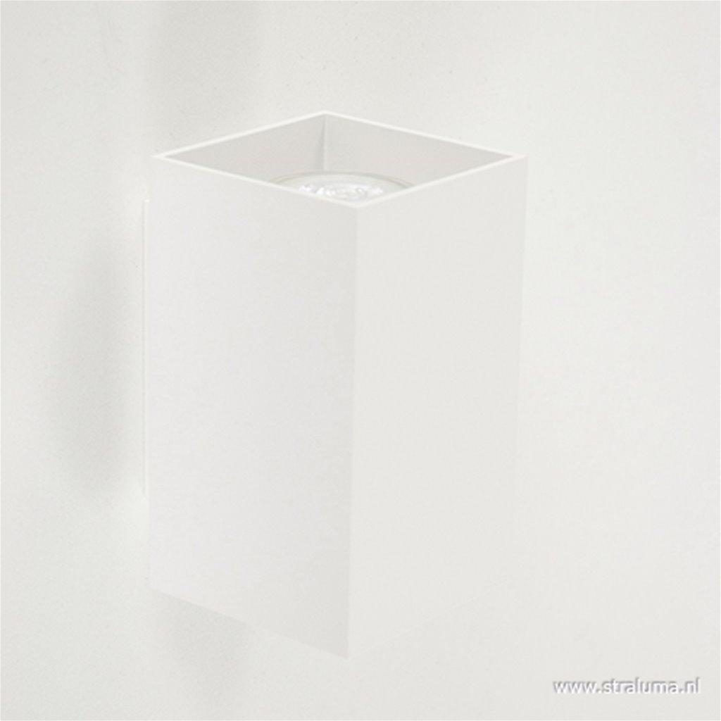 *Wandlamp wit rechthoek up+down gu10