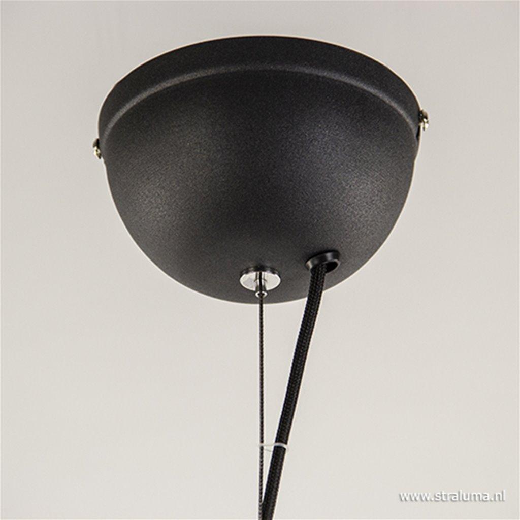 *Chique hanglamp zwart met goud