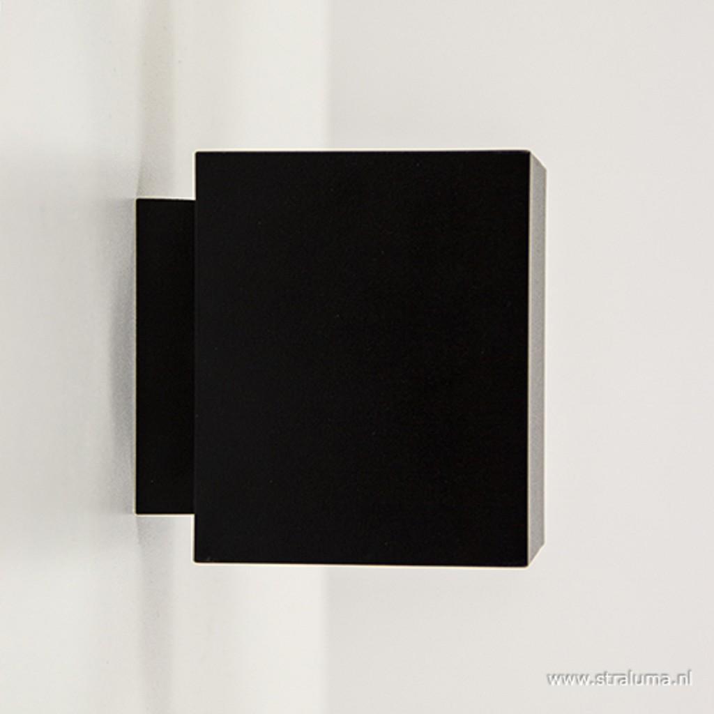*Wandlamp kubus zwart/goud