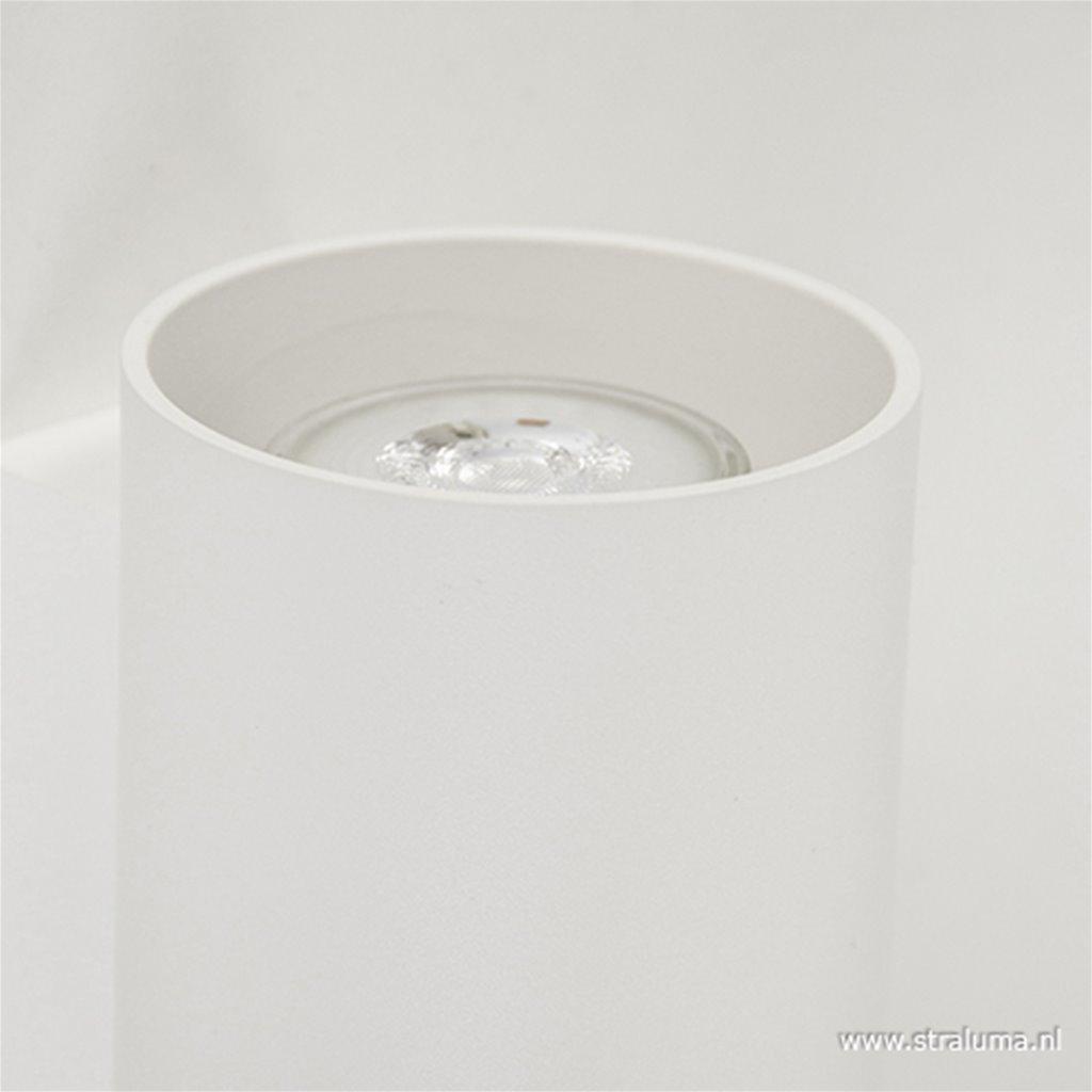Wandlamp cilinder wit up+down gu10