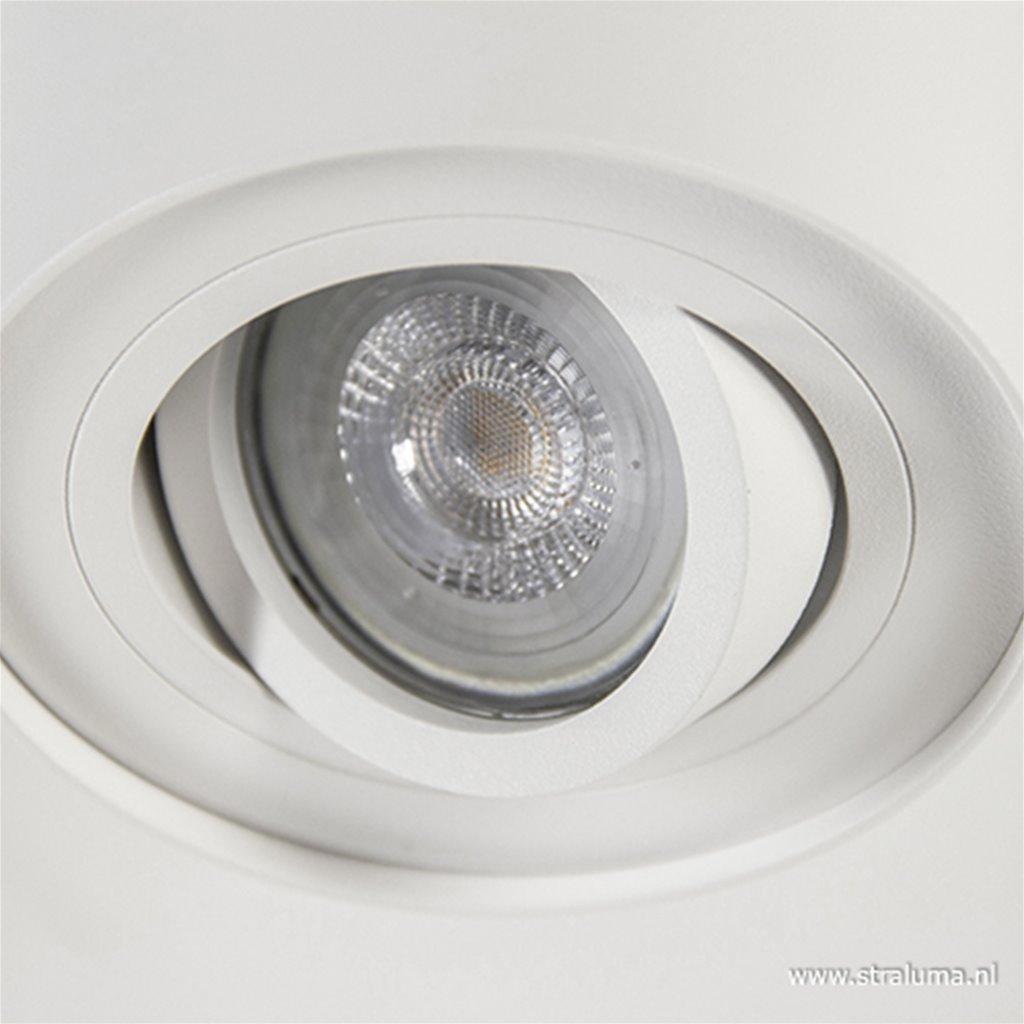 Plafondspot cilinder wit verstelbaar gu