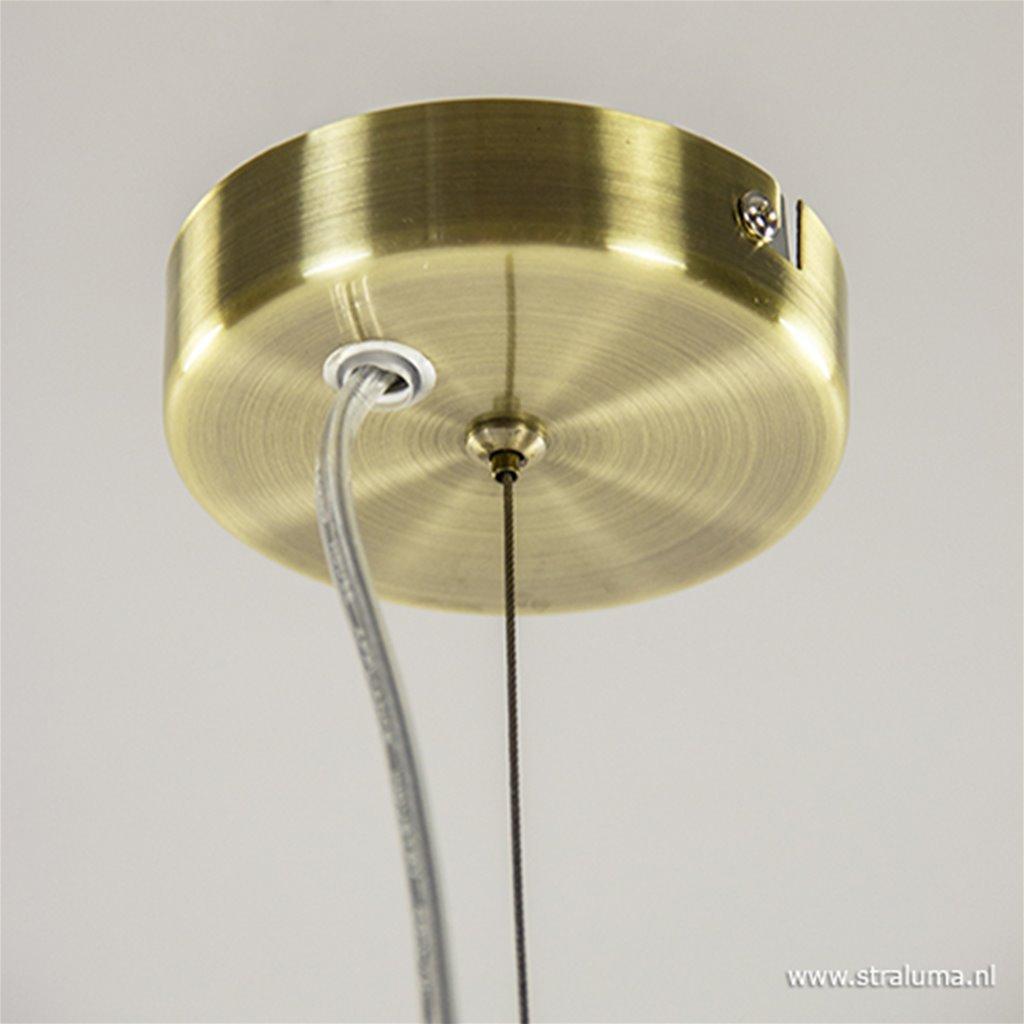 Klassiek hanglamp brons met glas