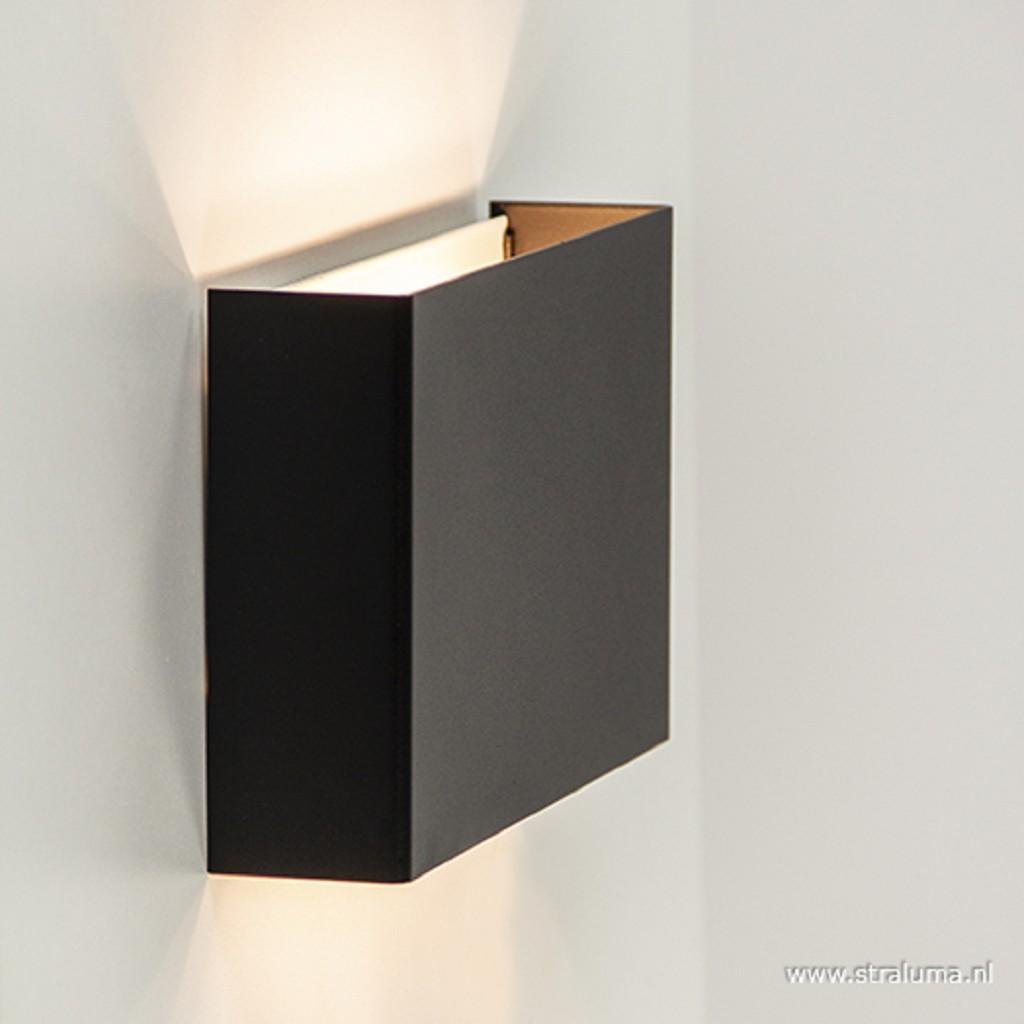 Wandlamp rechthoek zwart up+down 2xg9
