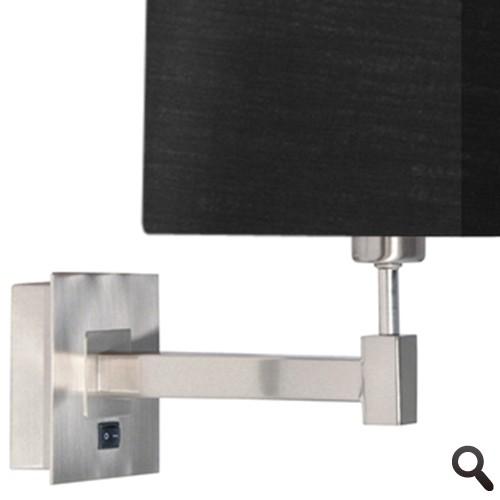 Wandlamp cuba zwart woonkamer straluma for Wandlamp woonkamer