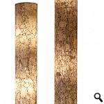 Vloerlamp 150cm gerecycled glas wit