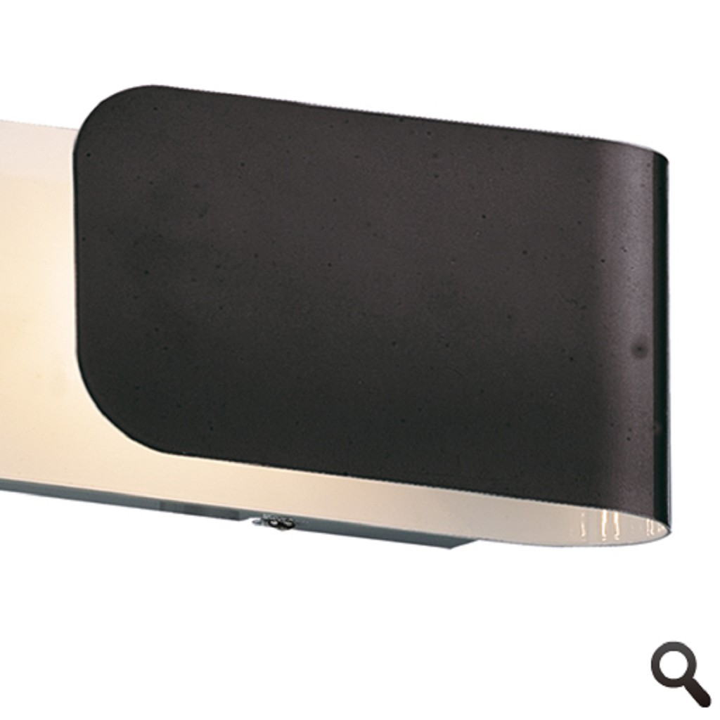 Wandlamp strak zwart woon/slaapkamer
