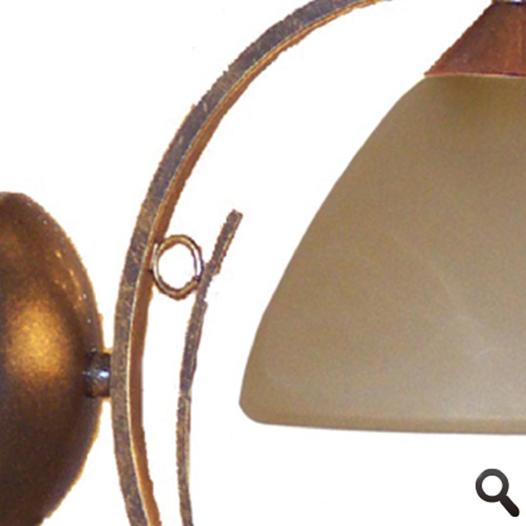 Wandlamp Bolzano smeedijzer brons