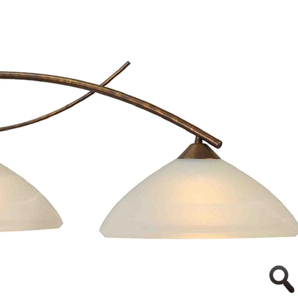 * Hanglamp Latina brons eettafel