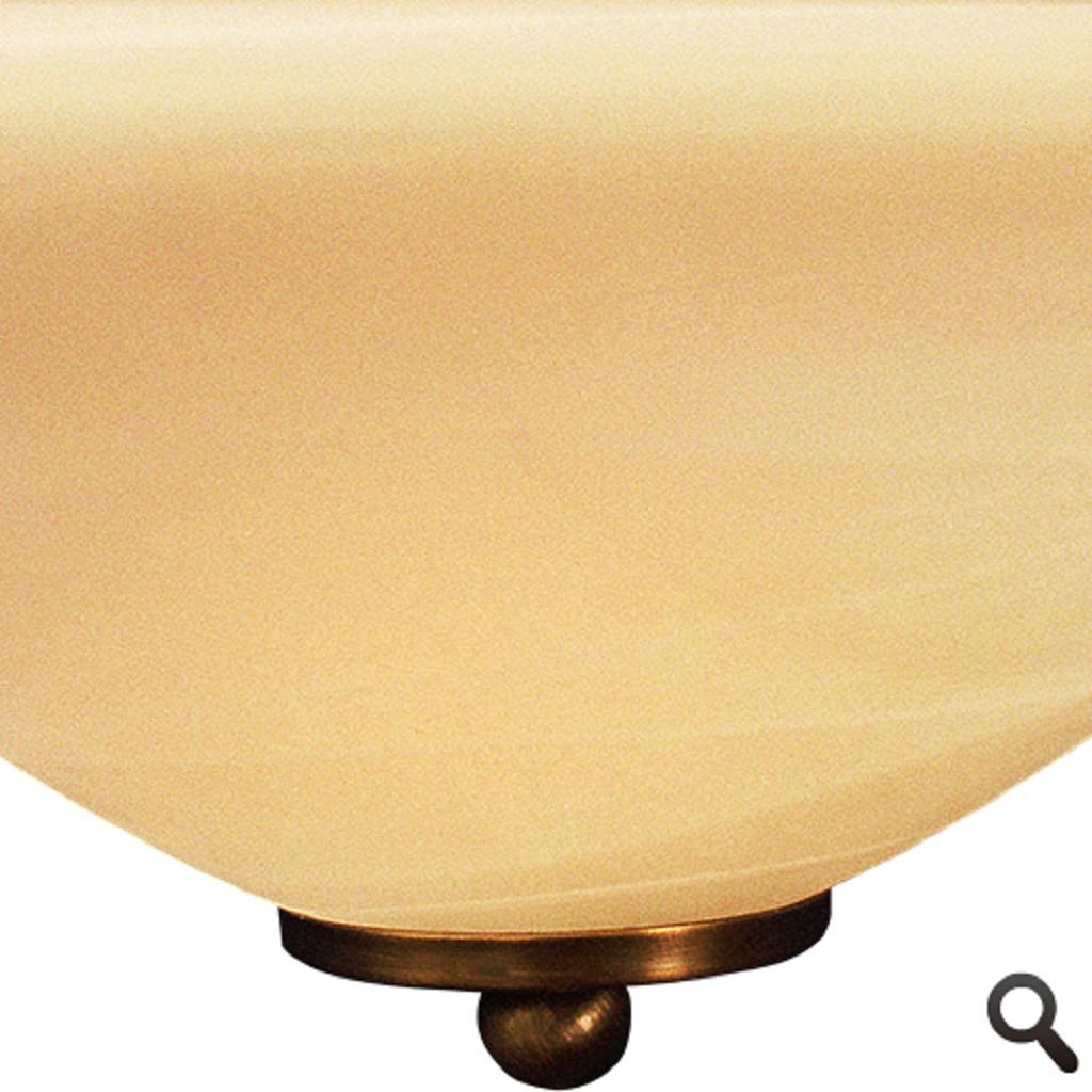 *Klassieke wandlamp brons Ogiva glas