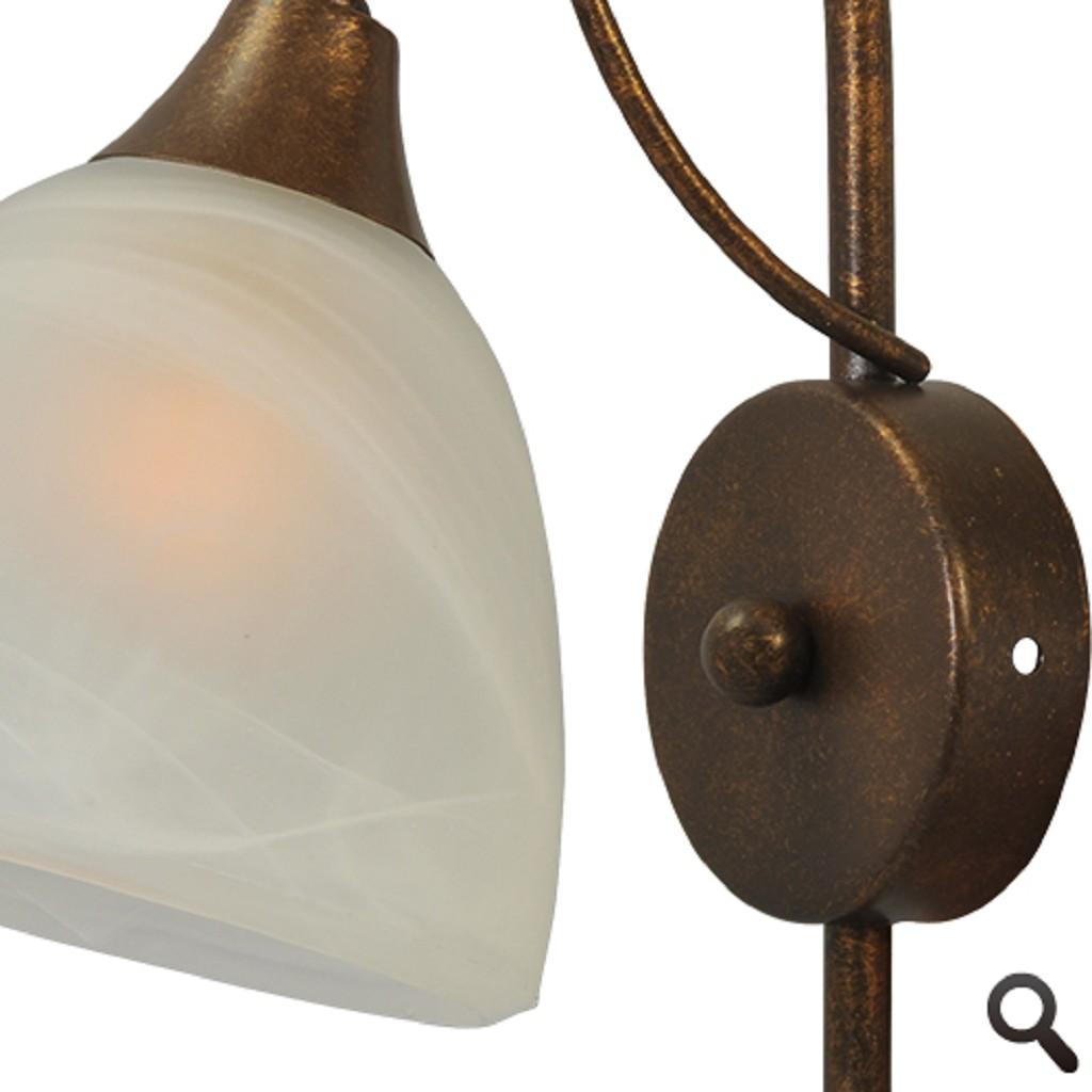 * Klassieke wandlamp Latina brons/bruin