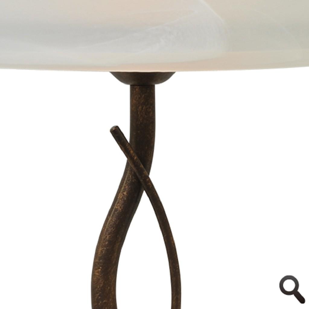 Klassieke tafellamp Latina bruin/brons