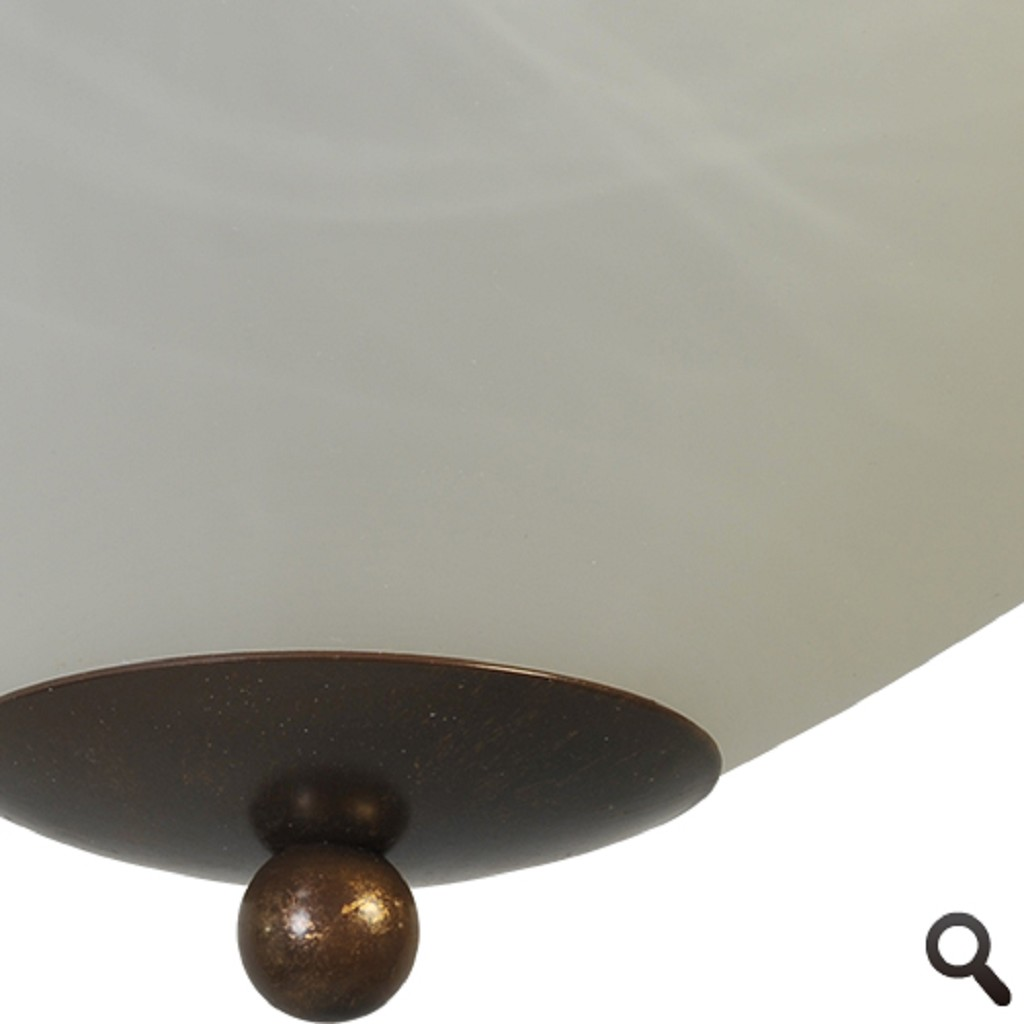 Klassieke plafonnière Latina bruin